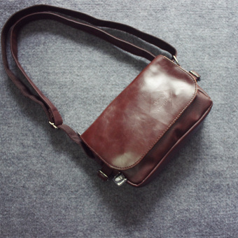 Stylish guy's New style boy's small shoulder bag (Deep Brown) (Deep Brown)