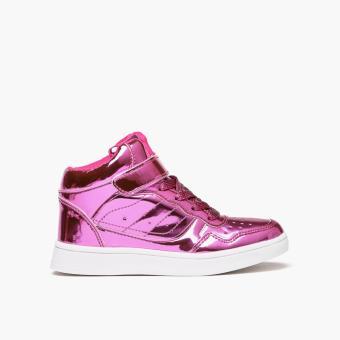 Sugar Kids Girls Clover Sneakers (Dark Pink)