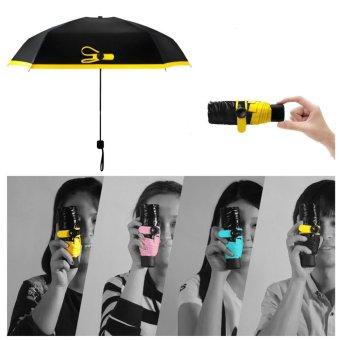 Super Mini Compact Travel ultra-small phone pocket sun fold UV umbrella - intl