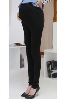 supercart adjustable high elastic pregnant leggings black