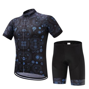 SUREA 2017 New Fabric Summer Men Quick Dry Cycling Jersey/ShortsSet Mtb Breathable Bicycle Clothing Short Sleeve Cool Bike ClothesDT-22 - intl