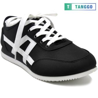 Tanggo Fashion Sneakers Canvas Rubber Shoes for Men 5502 (black)