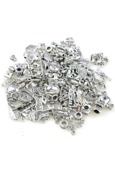 Tibetan Silver Charms Beads Findings Mix - picture 2