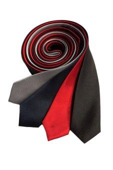 Well Suited Plain Slim Necktie Combo E