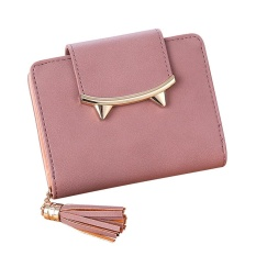 PHP 501. Women Tassel Solid Color Coin Purse Short Wallet Card ...
