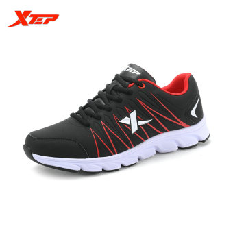 XTEP 2015 Autumn Outdoor Traveling Sneakers Mens Running Shoes Athletic Sports Trainers Shoes (Black/Red) - intl