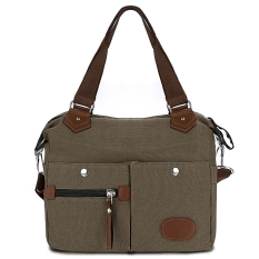 Yika Canvas Multi-functional Shoulder Cross Body Messenger Bag (Brown) - intl