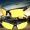 2pcs Yellow Lens Night Vision Goggles Sunglasses Driving Riding Sport Glasses UV400 - Intl