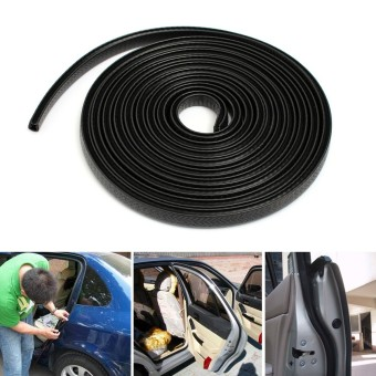 4 Meters Universal Car Edge Trim Rubber Seal Scratch Protector Guard Strip For Car Boat Van Truck Black - intl