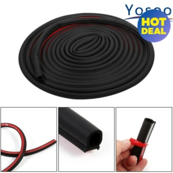 8M Big D Shape Car Motor Door Rubber Seal Trim Strip - intl