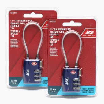 ace hardware blue tsa cable shackle luggage lock 32mm set of 2 lazada ph. Black Bedroom Furniture Sets. Home Design Ideas