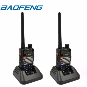 BAOFENG UV-5R Dual Band (VHF/UHF) Analog Portable Two-way Radio SET OF 2