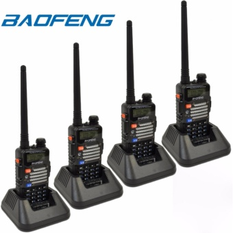 BAOFENG UV-5R Dual Band (VHF/UHF) Analog Portable Two-way Radio SET OF 4