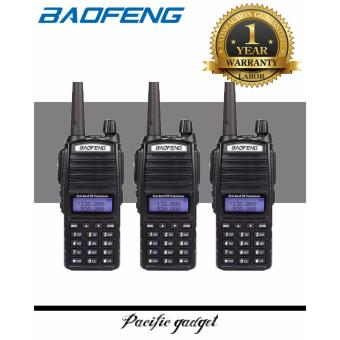 Baofeng UV-82 HP 8W Dual Band VHF/UHF Two Way Radio SET of 3(Black)