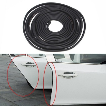 Black Car Door Sealing Bumper Trim Strip Scratch Protector EdgeGuard Cover Anti Wear Rubber Strip - intl