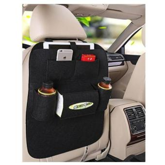 Car Back Seat Organizer Hanging Bottle Holder Travel Storage BagBox Case Kitchen Multi-Pocket black