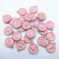 Fantastic Flower Hot Sale Double Drip Pendant A Z Charms Beads 1pc English Letter Fit Handmade