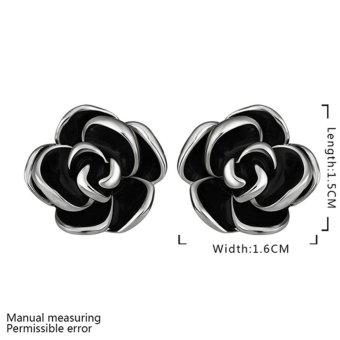Fashion Flower Earrings Studs 18K Platinum & Gold Womens Ladies Girls Eardrop - Intl - picture 2