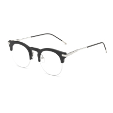 Fashion Vintage Retro Cat Eye Glasses Black Frame Glasses Plain for Myopia Women