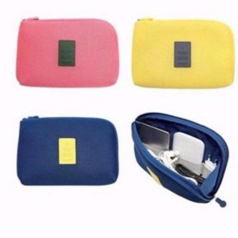 Handy Travel Gadget Organizer Pouch Color Blue