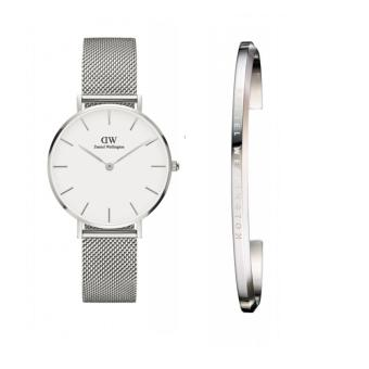 DW Daniel Wellington Classic Petite Melrose 32mm Rosegold /Silver Black/White Face Watch and