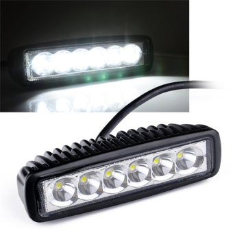 18W Flood Beam LED Work Light Bar Off road Lamp Boat Home Jeep SUV UTE 4WD