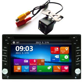 Ezonetronics Car DVD GPS Navigation 2DIN Car Stereo Radio GPS Bluetooth USB/SD Universal Player
