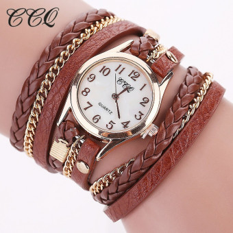Korean fashion drill watch female leather bracelet watches