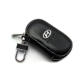 Leather Car Remote Key Holder Case Cover for Hyundai (Black) - intl
