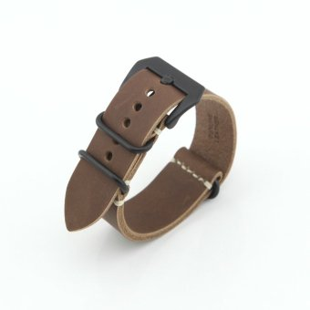 Leather Replacement Watch Band Strap Belt 22mm For Man or Woman(Brown)