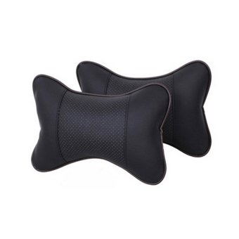 Lovely Breathe Car Auto Head Neck Rest Cushion Headrest Pillow Pad2pcs Black