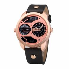 watches for wristwatches brands prices in newyork army leather strap dual time oversize dial men s watch nya1342 black rosegold