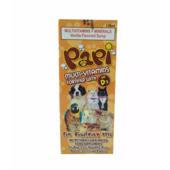 Papi Multi-Vitamins fortified with Vitamin D3 for Household PetsVanilla Flavored Syrup - 120ml
