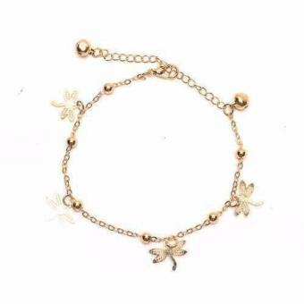 piedras jewelry charmed anklet 18k Gold plated