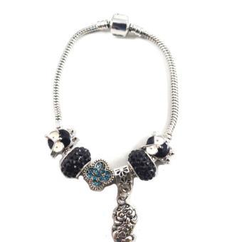 piedras jewelry pandora stainless steel charm bracelet