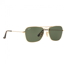 ray ban round sunglasses look alike  ray ban sunglasses caravan rb3136 gold (181) size 58 dark green