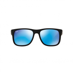 Ray-Ban Sunglasses Justin RB4165F - Black Rubber (622/55) Size 55 Green Mirror Blue