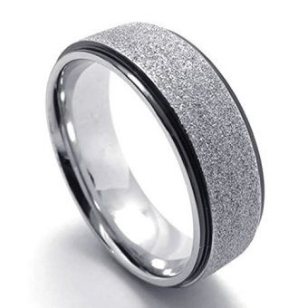 Stainless Steel Fashion Men's Rings Classical Love Lovers (Intl) - picture 2