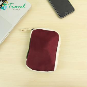 Travel Manila Weekeight Travel Organizer Gadget Pouch Dual Color(Maroon/ Green)