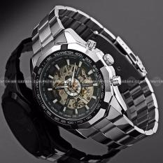 wristwatch for men for casual watches for men brands winner men s hollow engraving automatic skeleton stainless steel watch