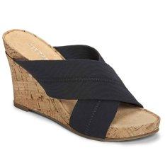 Aerosoles Partyplush Wedge Sandals (Fabric Black)
