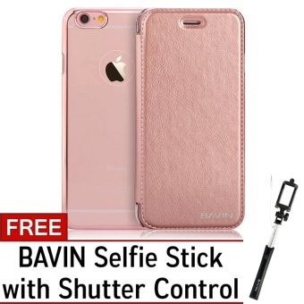bavin leather tpu case for iphone 6s 4 7 rose gold with free bavin selfie stick rose gold. Black Bedroom Furniture Sets. Home Design Ideas