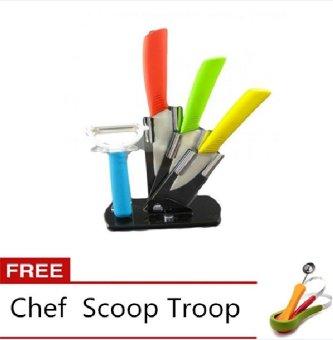 ceramic knife and peeler set of 4 free chef scoop troop multicolor lazada ph. Black Bedroom Furniture Sets. Home Design Ideas