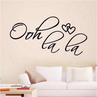 fashion creative Design Wall Sticker OOH LA LA Heart Art