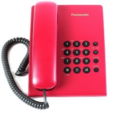 Image result for PANASONIC INTEGRATED DESKTOP PHONE KX-TS500 RED