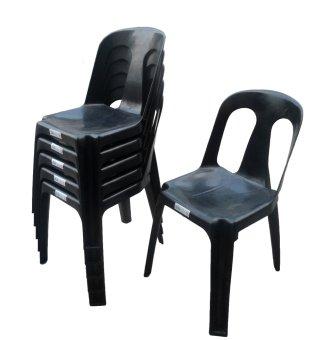 Plastic Monoblock Chair Set Of 6 BLACK Lazada PH