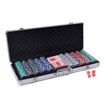 poker game set in aluminium case