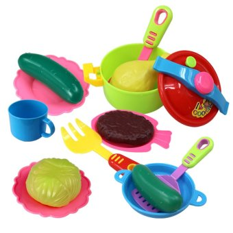 Simulation tableware children pretend play kitchen toys for Kitchen set for 1 year old