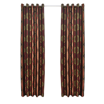 the curtain shop zabeth collection grommet curtain red black single