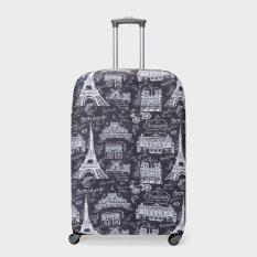 Travel Basic Paris Large Luggage Covers (Black)